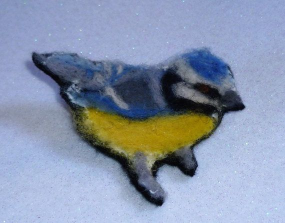 Check out this item in my Etsy shop https://www.etsy.com/uk/listing/506557529/blue-tit-brooch-needle-felted-bird