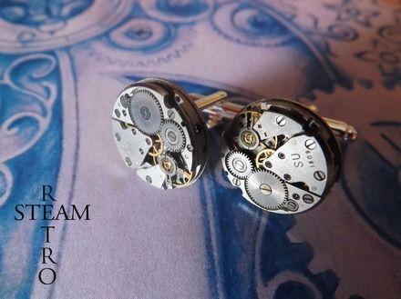 Steampunk Boutons de manchette Hommes - 18mm boutons de manchette - boutons de manchette de mariage - boutons de manchette - cadeaux garçon d'honneur
