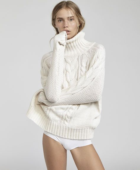 Cableknit sweater, Oysho - Size S