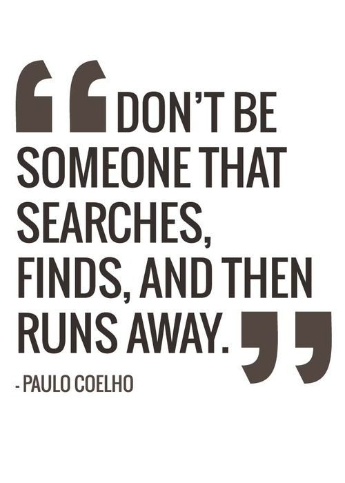 Running away quotes and sayings