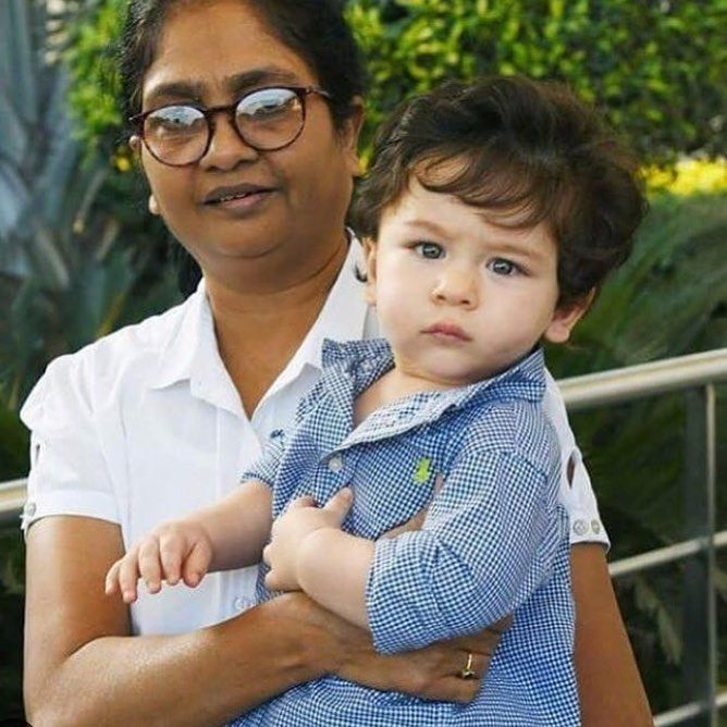 Who doesnt love the Nany and Taimur duo!?? The nanys sass is straight up Bebo level! We love you Taimur and Nanny   #taimuralikhan #bebo #nanny #saifalikhan