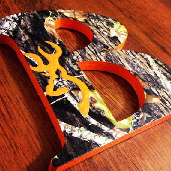 camo letters with browning! love