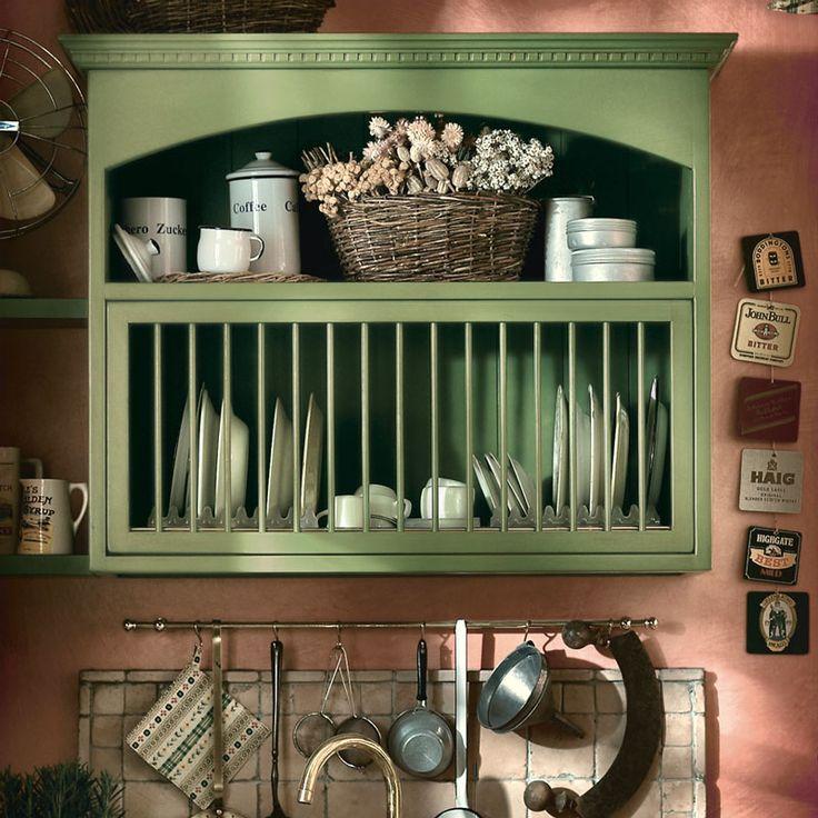 Cucina Old England. Stile country e chic, inconfondibile che offre il meglio del tipico english style.