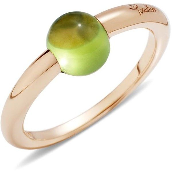 Pomellato M'Ama Non M'Ama Ring with Peridot in 18K Rose Gold ($1,350) ❤ liked on Polyvore featuring jewelry, rings, 18k jewelry, pomellato, peridot jewellery, red gold jewelry and rose gold jewellery