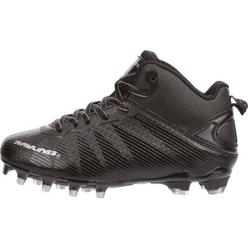Rawlings Boys' Syndicate Mid Football Cleats (Black, Size 3.5) - Youth Football Shoes at Academy Sports