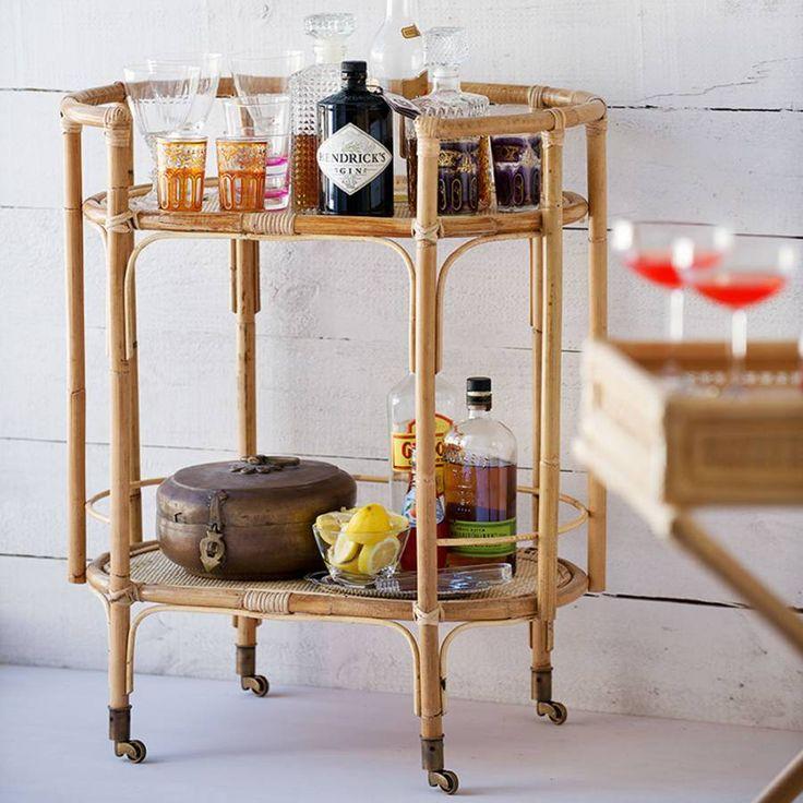 Terrance Bar Cart - Natural | Bowerhouse
