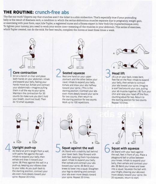 """Wow- who knew? Healing your """"mummy tummy"""" :-) Diastasis Recti: how to heal from having kids and get your abs back together. I didn't know the separation between your abdominal muscles will constantly cause the """"pooch"""" and crunches could actually worsen the gap. There are exercises here that will help to strengthen your core and make that gap smaller."""