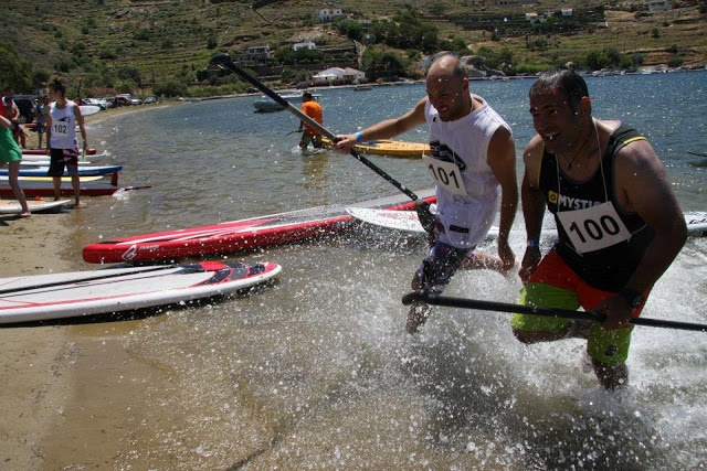 2nd Race Stand-Up #Paddle #Surfing in #Kea #Tzia #Κέα #Τζια