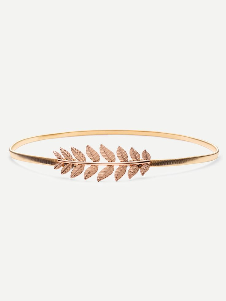 Shop Gold Leaf Metal Elastic Belt online. SheIn offers Gold Leaf Metal Elastic Belt & more to fit your fashionable needs.