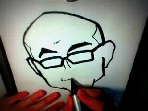 Drawing: PAUL MCKENNA CARICATURE! [2:20min]