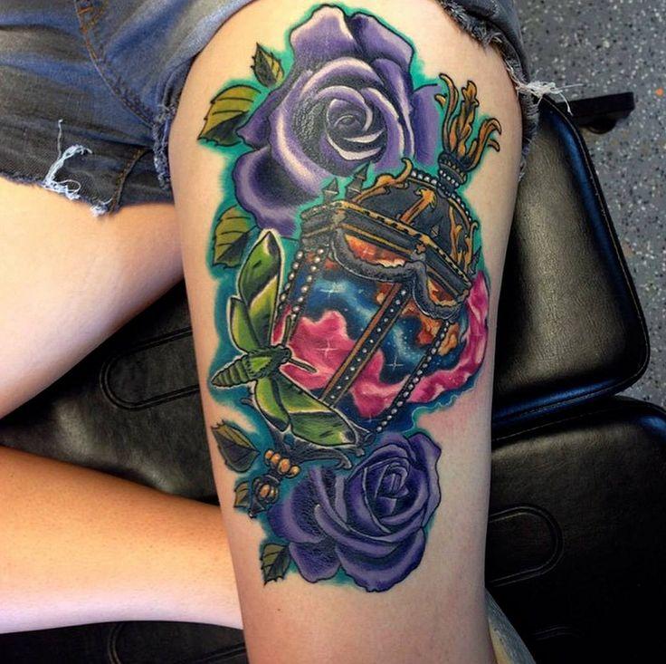 Chris tattoo austin texas best shop artist purple rose