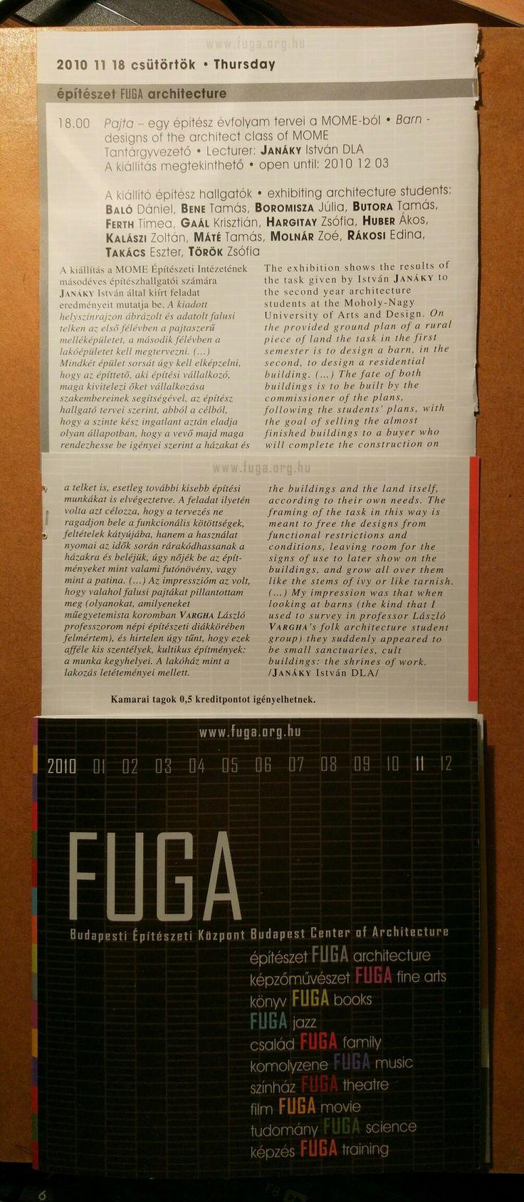 Pajta kiállítás @ FUGA #Janaky #FUGA #MOME