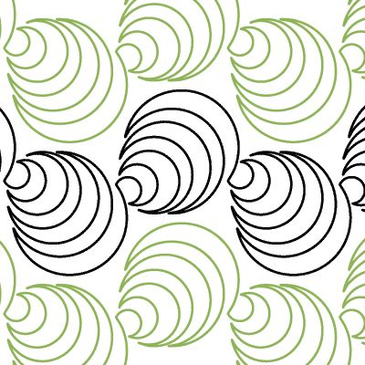 Could be worked free-motion; work with fewer concentric repeats for seashells.  I like the interlocking rows.