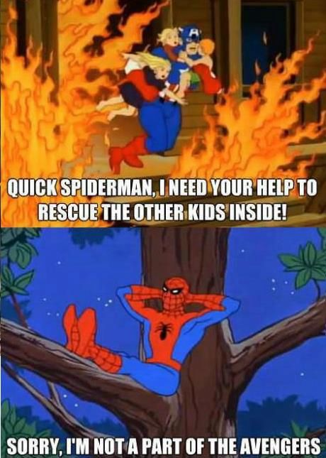 Vintage Spider-man. Sorry, I'm not part of the Avengers