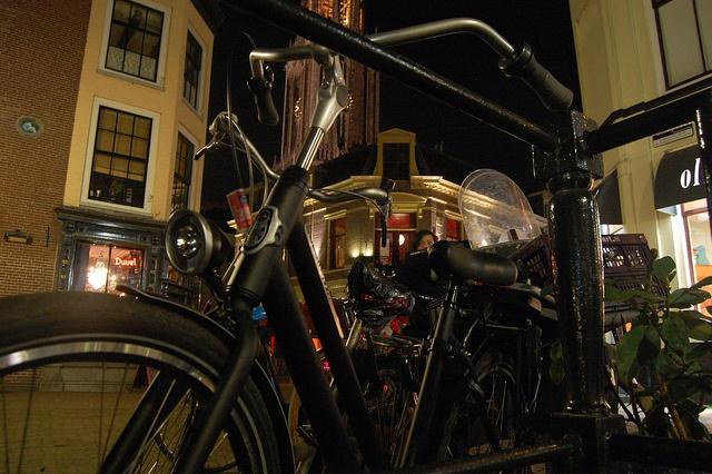 Bikes @ Cafe Orloff Utrecht by Dijkie!, via Flickr