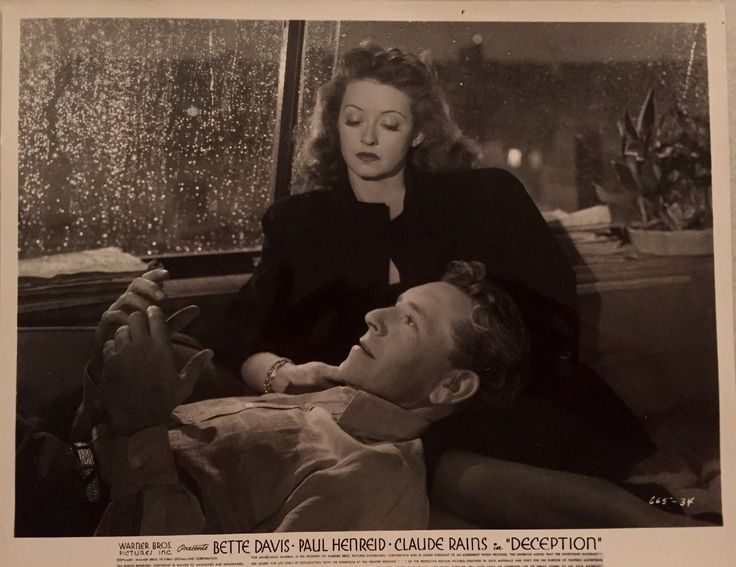 Bette Davis and Paul Henreid in Deception (1946)