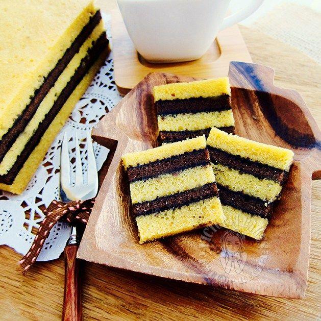 Steamed Horlicks Milo Kaya Cake