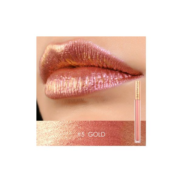 FOCALLURE Glitter Lip Gloss ($7.25) ❤ liked on Polyvore featuring beauty products, makeup, lip makeup, lip gloss and white