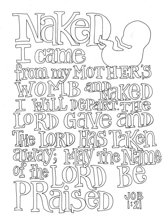 The Lord Gave And Hath Taken Away Blessed Be Name Of Scripture DoodleBible ArtWisdom BooksClass