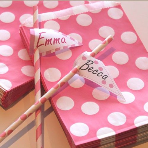 Polka dots and decorative Straws