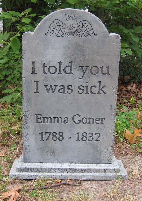 Emma Goner Halloween Tombstone Etsy in 2020 Halloween