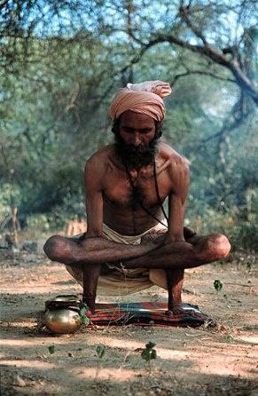 An Indian yogi.