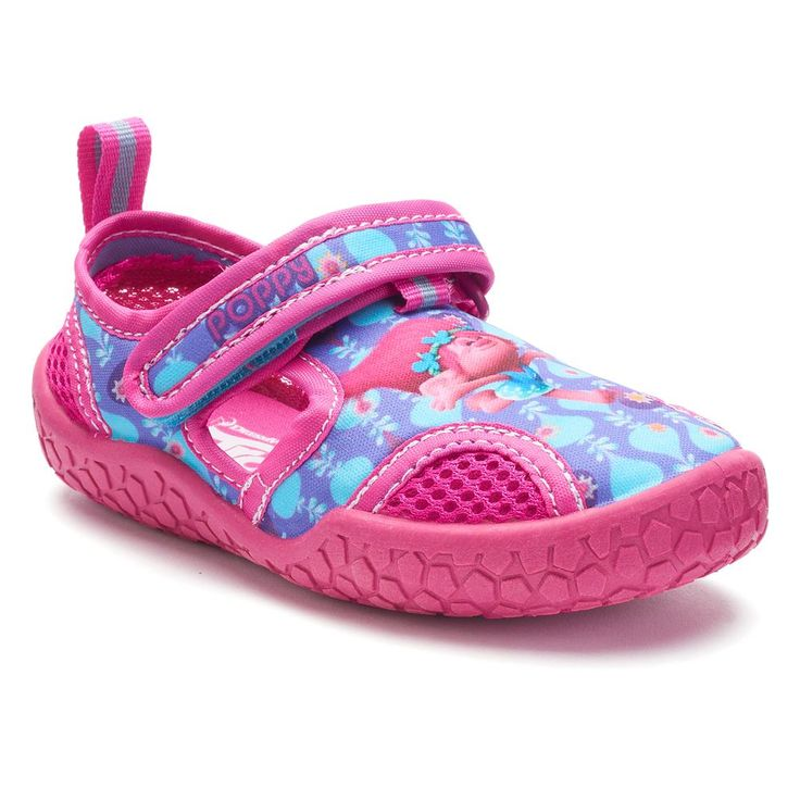 DreamWorks Trolls Poppy Toddler Girls' Water Shoes, Size: 10 T, Purple