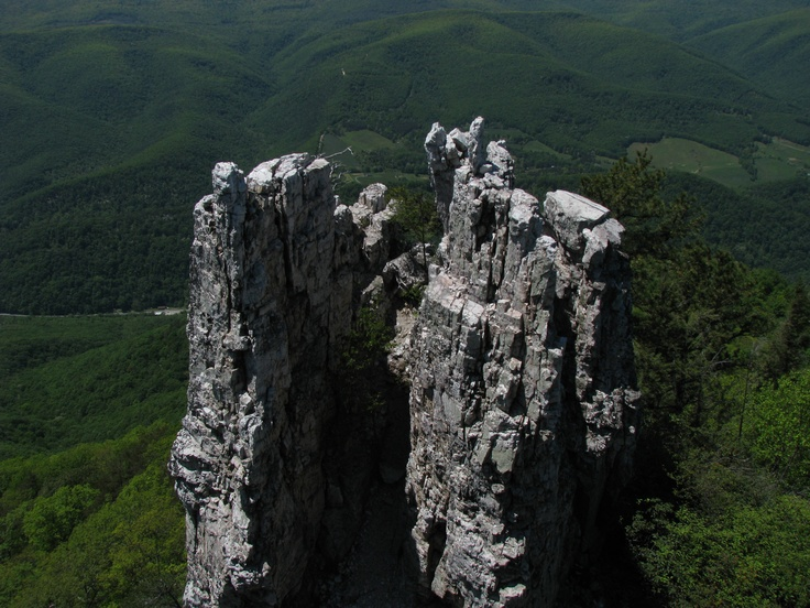 Chimney Top on North Fork Mountain, Monongahela National Forest, WV.