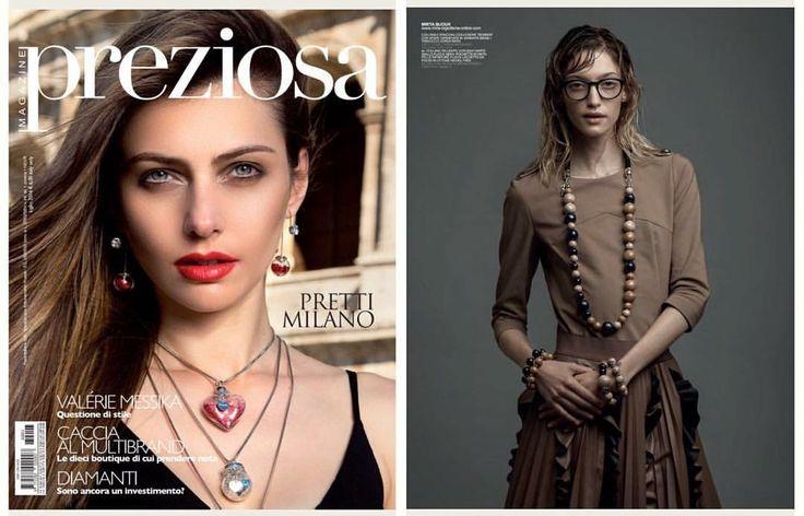 Preziosa Magazine Luglio 2016 #mirtabijoux #bijoux #fashion #bonbon #madeinitaly #preziosamagazine