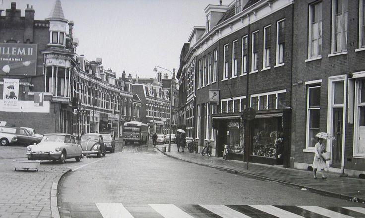 De Wagenweg in Haarlem omstreeks 1964 ter hoogte van het Houtplein