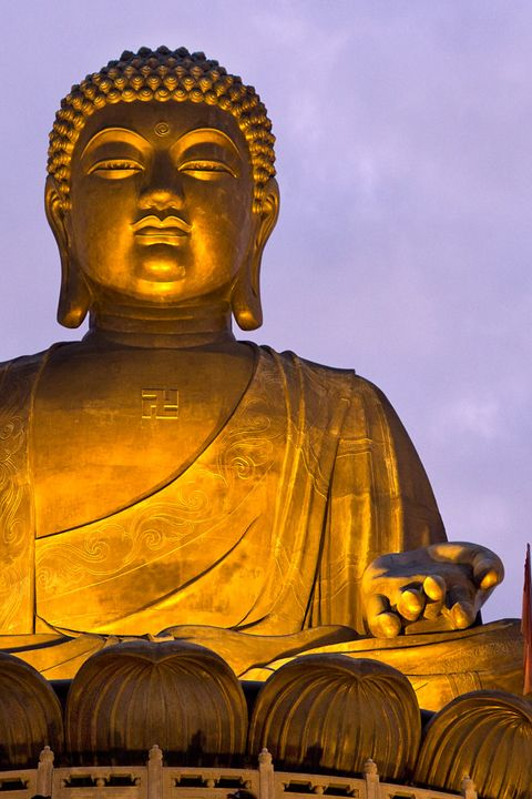 The face of Tian Tan Buddha was made with Gold, depicting the solemnity and beauty of the Buddha. For more information visit http://www.guiddoo.com/