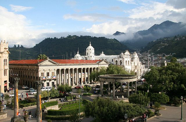 Parque Central is the heart of Quetzaltenango, serving as the city center and a major local and cultural hub. The city is situated in between three massive volcanoes, offering a beautiful and primitive aura to the area. The city boasts multiple opportunities to explore local Mayan villages or to travel about a day's journey to Laguna Chicabal, a sacred lake situated in the cloud forest and perhaps a visitor's greatest chance of spotting a Quetzal bird in the wild.