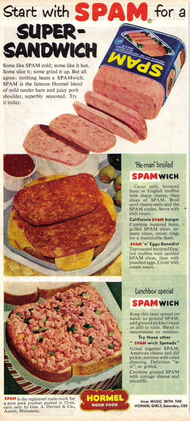 Quick easy spam recipes