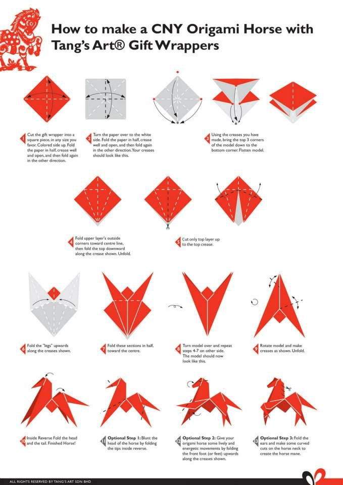 #DIY Origami Horse using gift wrap papers