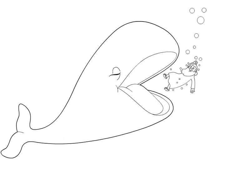 Jonah And The Giant Fish Coloring Page