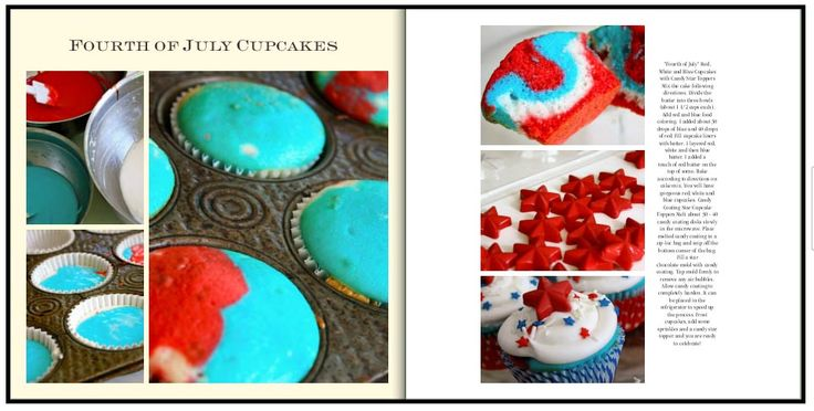 Fourth of July Cupcakes.