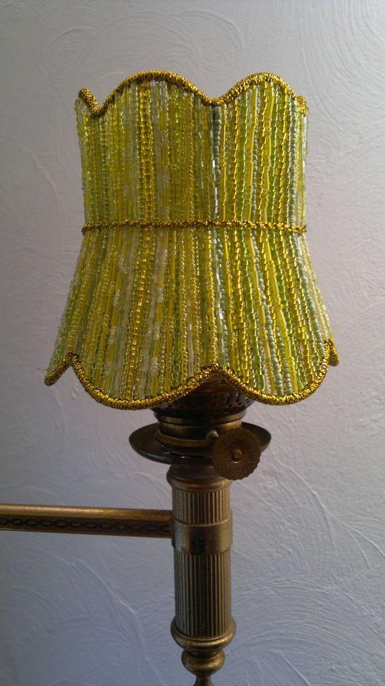 Lampenschirm  Kronleuchter, Design-Unikat, Klemmschirm, Perlen