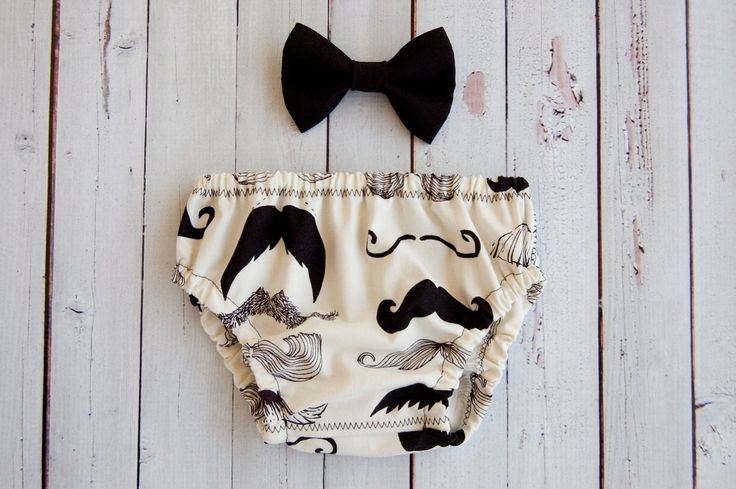 Baby Boy Mustache Diaper Cover And Matching Bow Tie, first birthday outfit. I SO WANT THIS FOR DONOVAN!