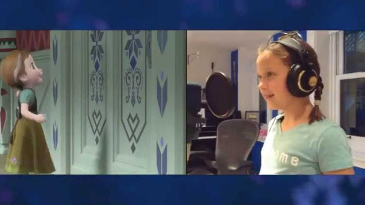 """""""Voices of Young Elsa & Anna"""" Clip - The Story of Frozen: Making a Disne..."""
