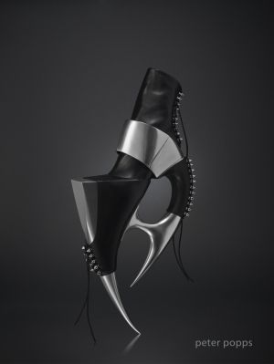 futuristic shoe, Peter Popps, future fashion, Avant-Garde Shoes, futuristic art, CUBE by FuturisticNews.com