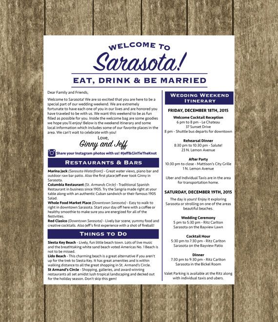 welcome letter wedding template