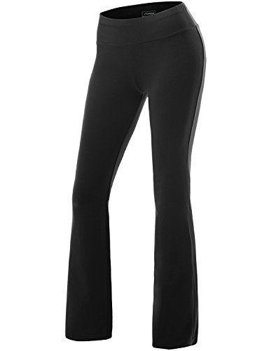 J.TOMSON Women's Active Workout Bootleg Yoga Running Pants