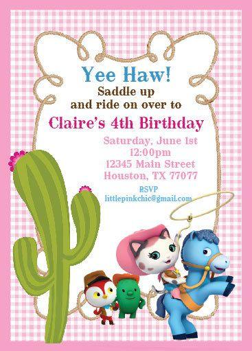 Sheriff Callie Birthday Invitation by PinkChicInvitations on Etsy