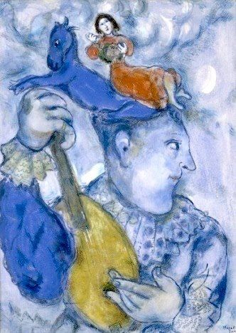 Marc Chagall - Clown Playing the Mandolin'