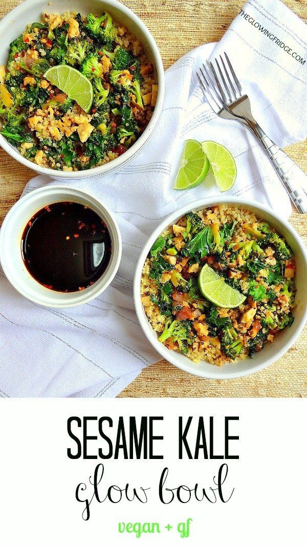 Sesame Kale Glow Bowl | 19 Quinoa Salads That Will Make You Feel Good About Your Life
