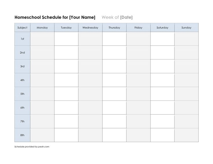 printable blank class schedule weekly template free university pdf - classroom agenda template