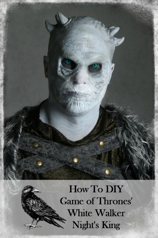 How to DIY Game of Thrones' White Walker Night's King Costume and Makeup with prosthetic and theatrical color contact lenses #got