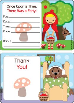 Printable red riding hood invitations http://www.familyshoppingbag.com