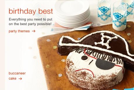 pirate birthday party cake