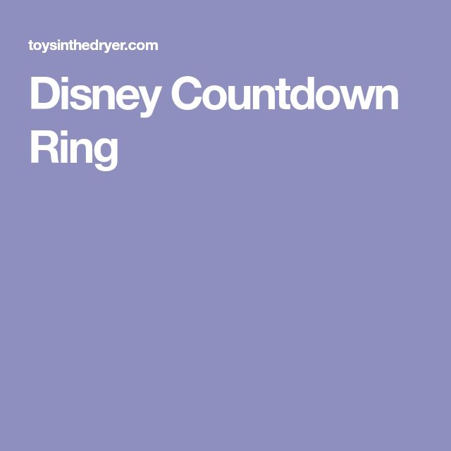 Disney Countdown Ring